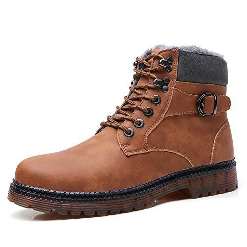 Martin Stiefel Chelsea BootsMartin Stiefel Chelsea BootsMännliche Winterstiefel von Martin mit kurzen Stiefeln und samtigen High-Top-Baumwollschuhen. Herren-Schneestiefel, warme Winterstiefel-brown-4