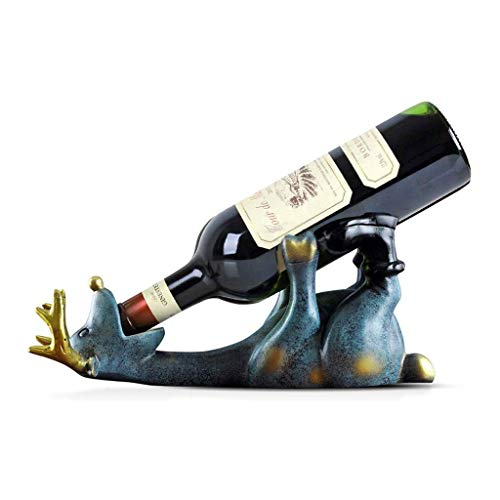 Estante para vino de pie Titular de almacenamiento de vino nórdica Elk Styling estante del vino de la personalidad principal restaurante de la cocina encimera de resina estante del vino Gabinete Bodeg
