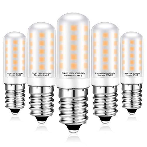 E14 LED Dimmbar Leuchtmittel 4W Ersatz für 40W 50W Halogenlampe - Warmweiß 2700K Led Glühbirnen - G9 Sockel Led Birne Lampe, 400LM, AC220-240V, 5er Pack