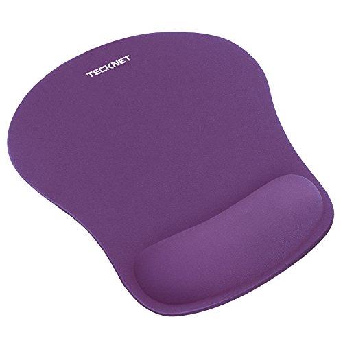 TECKNET Mouse Pad con Gel Rest, Tappetini per Il Mouse – Base in Gomma Antiscivolo – Superficie con Texture Speciale