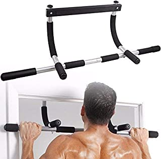 Dporticus Pull Up Bar Exercise Equipment, Family Gym Indoor Multi-Function Door Single Parallel Bars for Pull-ups, Sit-ups, Push-ups, Strength Training