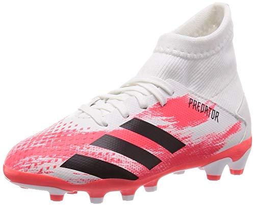 adidas Performance Predator 20.3 MG - Botas de fútbol para niño, FBA53, Color coral blanco., 3.5 US - 35.5 EU - 3 UK