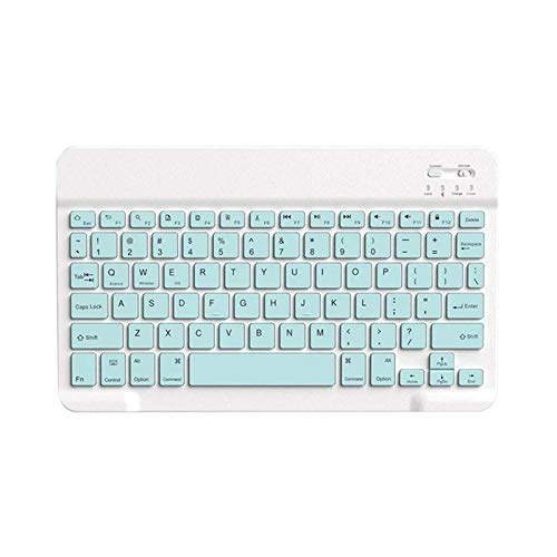 L-sister High precision Bluetooth Mouse Keyboard Set For Ipad Mobile Phone Tablet Universal Ultra-thin Tuner Pink Keyboard Mice Set Blue Coloring Best sensitivity (Color : Blue Keyboard)