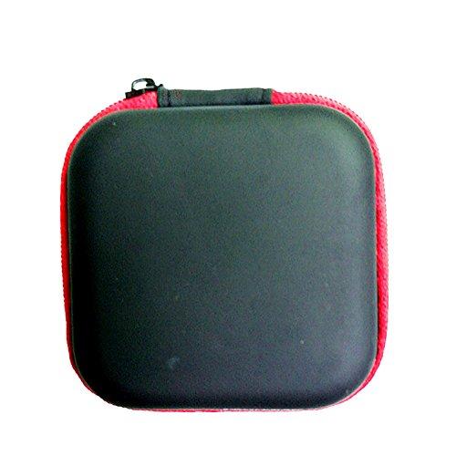 Lovemay Mini sac de transport pour écouteurs, accessoires numériques, poches pour lecteur MP3, câble USB, disque, etc. 7 x 7 x 2,8 cm