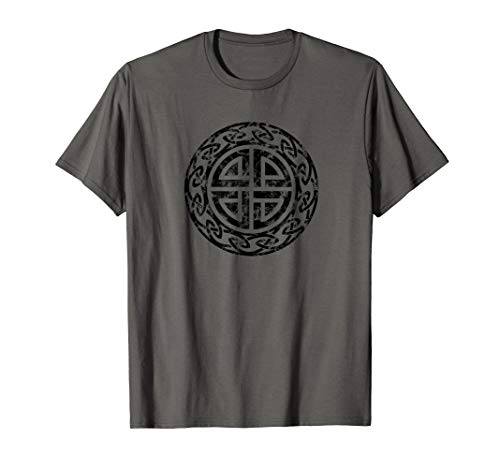 Vintage Schutzsymbol Schildknoten Keltisch Wikinger Nordisch T-Shirt