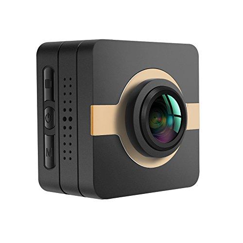 Matecam Videocamera, dash cam, action camera 4K-HI 16MPIMX206 Full HD 1080p, stabilizzatore, kit di accessori per bici, moto immersioni, nuoto ecc., marrone, 42x42x26mm
