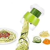 FSJD Cortador de Verduras de Mano, Cortador en Espiral de Verduras Mejorado 4 en 1 Cortador en Espiral de Verduras de Alta Resistencia - Máquina para Espaguetis de Pasta