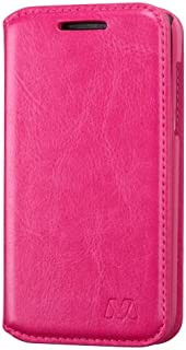 Asmyna MyJacket Wallet with Tray for Alcatel 5020T One Touch Evolve - Retail Packaging - Hot Pink