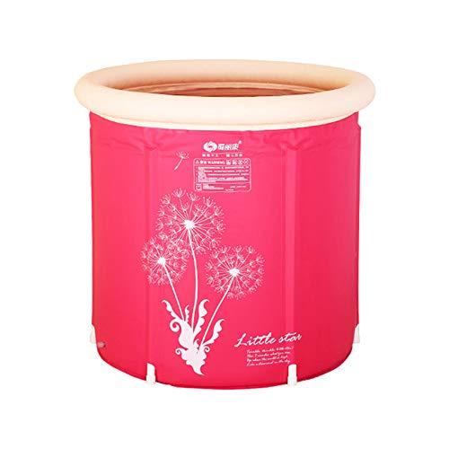 Bañera de hidromasaje para baño familiar separada plegable, bañera plegable portátil, fácil de instalar, fácil almacenamiento, ideal para baño caliente, baño de hielo, dos colores