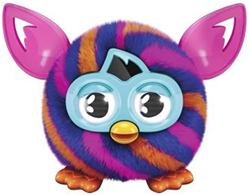 Furby Furbling Critter (Orange and Blau Diagonal Stripes) by Furby