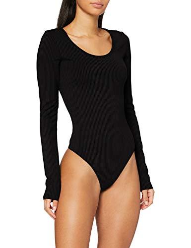 G-STAR RAW Womens Rib Body Slim T-Shirt, dk Black C534-6484, M