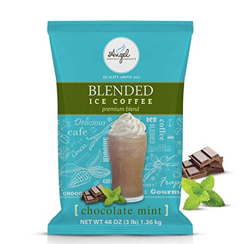 Angel Specialty Products, Blended Ice Coffee, Frappe Powder Mix, Chocolate Mint [3 LB] [34 Servings]