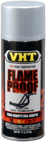 VHT SP106 FlameProof Coating Flat Silver Paint Can - 11 oz.