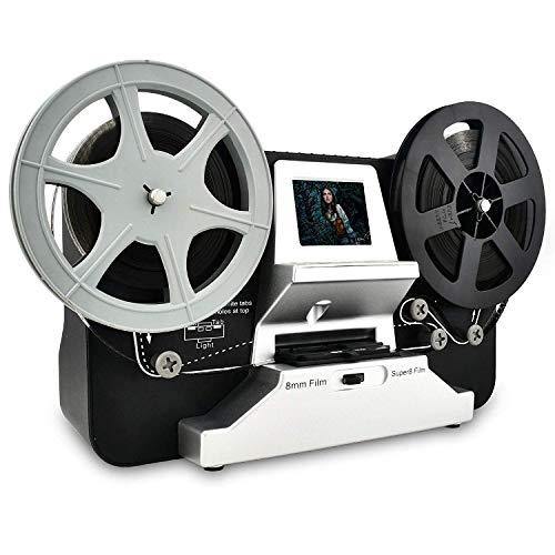 """Rybozen Super 8 - Normal 8 Film Scanner mit 2,4\"""" LCD und 32 GB SD-Karte, 1080P HD Digitalisierer für Super 8 und 8 mm"""