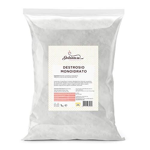 Dolcincasa-com Destrosio Monoidrato per Gelato Dolci Alimentare Integratore Glucosio Cristallino Anticongelante 1 kg