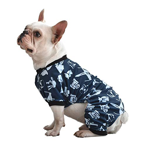 CuteBone Dog Pajamas Star Wars Dog Apparel Dog Jumpsuit Pet Clothes Pajamas Puppy Clothes P47XL