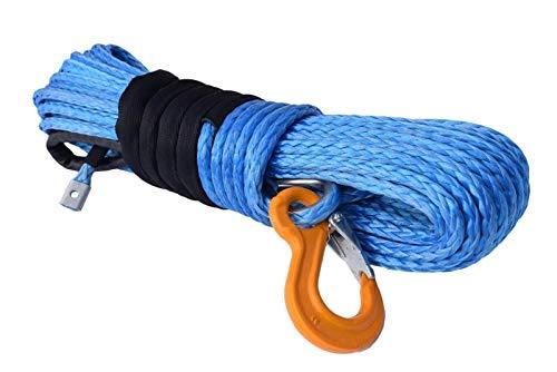 HEQIE-YONGP Cuerda de cabrestante Cuerda de cabrestante sintético Azul de 3/8