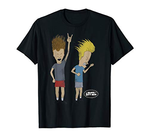 Beavis and Butthead Distressed Head Bang Graphic T-Shirt