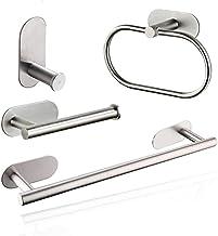 XYZMDJ Roestvrij staal Zilver Badkamer Hardware Set Handdoekenrek Toiletpapier Houder Handdoek Bar Haak Badkamer Accessoir...