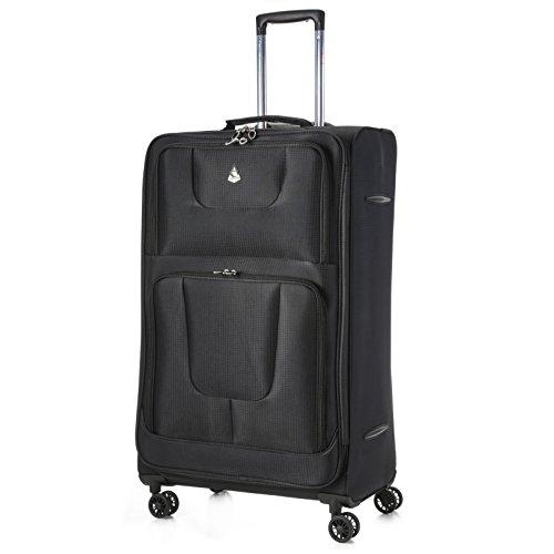 Jet2 Noir Aerolite Bagage Cabine Bagage /à Main Valise Souple L/égere /à 2 Roulettes Easyjet Air France Monarch et Plus Lufthansa pour Ryanair