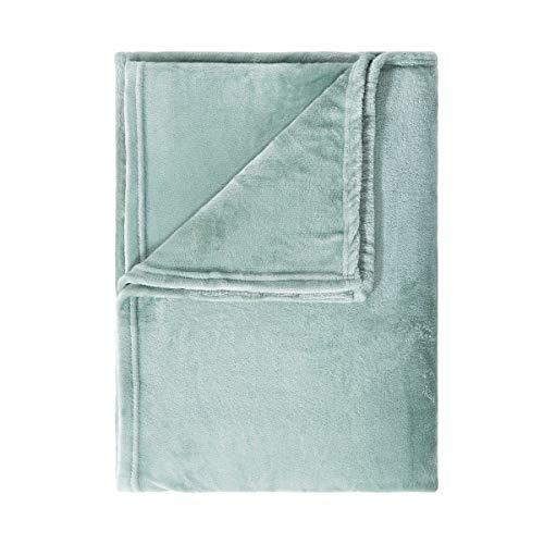 Butlers Lazy Days Flauschige Decke 200x150 in Rosa - Weiche Fleecedecke, Kuscheldecke, Plüschdecke, Klassische Wohndecke