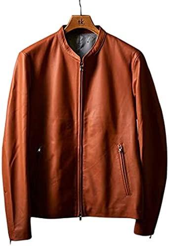 スマートなデザイン「tk.TAKEO KIKUCHI ラムレザーシングルライダースジャケット」