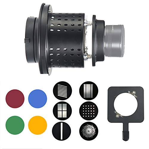 WELLMAKING Konische Snoot Bowens-Halterung für Studio-Beleuchtung, Zubehör für LED-Dauerlicht und Stroboskoplicht, Bowens-Halterung, Fotoausrüstung, Zubehör ohne Objektiv