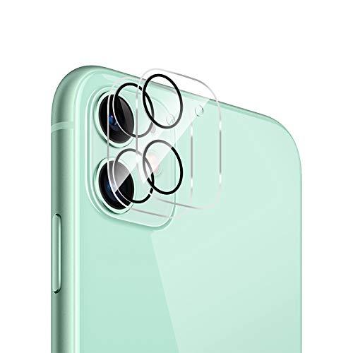 QULLOO Kamera Panzerglas für iPhone 11, [2 Stück] Kristallklar Kamera Schutzfolie Anti-Kratzen Kameraschutz für iPhone 11 (6.1 Zoll)