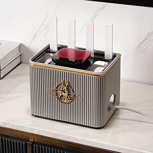 XWSM Caja De Gestión De Cables Caja De Almacenamiento De Enrutador WiFi Caja De Ordenación De Cables para Oficina En Casa Caja De Ocultación De Cables Caja De Ordenación De Cables Solución