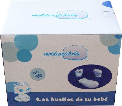 Material necesario para hacer en 3D las huellas De Las Manos y Pie del Bebé, Un recuerdo inolvidable del Recién Nacido. (Hasta 3 Huellas)