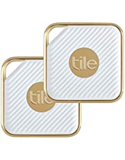Tile Pro Style Bluetooth Tracker - White/Gold, 2 Pack