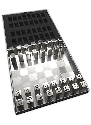 HAC24 Edelstahl Reiseschach Magnetisch Metall Schachspiel Magnetschach Schach