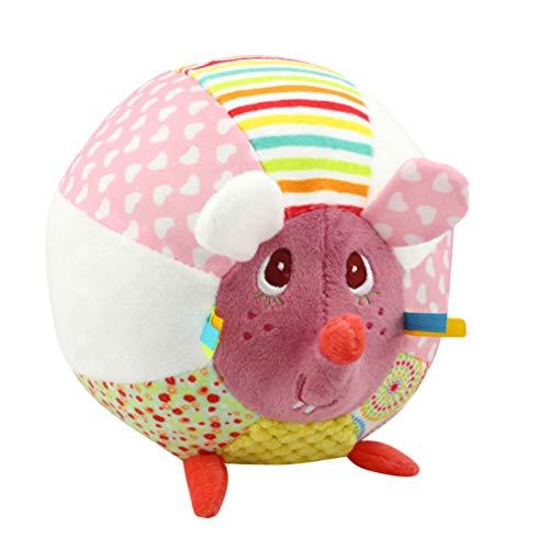 Baby Rassel Ball Plüsch Greiflinge Kinderwagen Spielzeug für Neugeborene Musikspielzeug Greifspielzeug (Maus)