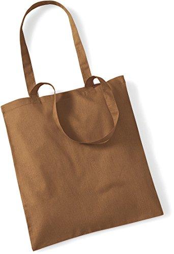 Bolsa de tela de algodón para camisas con estilo, bolsa de hombro, bolsa de compras, muchos colores, color caramelo