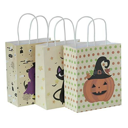 Halloween Goodie Bags 3PCS Kürbis Candy Handtaschen Hexe Ghost Party Favor Taschen Portable Halloween Geschenk Einkaufstasche