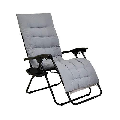 XONE Poltrona Paradise Premium con Cuscino Imbottito Incluso   Sdraio reclinabile Pieghevole Paradise con soffice Imbottitura Spessa - Portata Massima 120 kg - Textilene 2x2