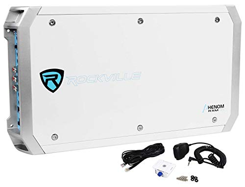 Rockville Marine/Boat 2600 Watt 6 Channel Amplifier + PA Microphone (RXM-S6)