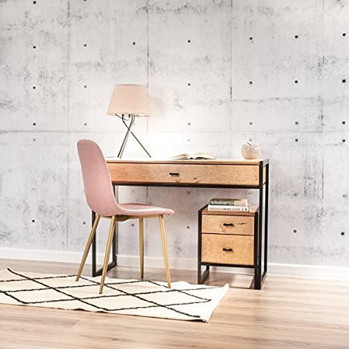 Conjunto de escritorio con armario pequeño, mueble de oficina, escritorio con armario, muebles de madera, escritorio, mesita de noche, juego de muebles