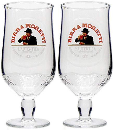 2 bicchieri da pinta Birra Moretti.