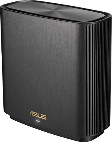 Asus ZenWiFi AX (XT8) Router (Ai Mesh WLAN System, WiFi 6 AX6600, Tri-Band, 3x Gigabit LAN, 2.5G WAN, AiProtection, USB 3.0, 160 MHz) schwarz