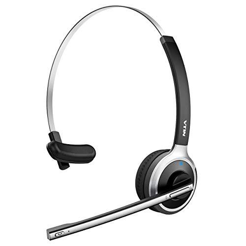 Auriculares Bluetooth Diadema Inalámbrico de VicTsing, Micrófono Incorporado, Manos libres y Cancelación de Ruido, 13 HORAS Conversación para Teléfono Fijo, Trabajo Recepcionista, Monitor Deportivo