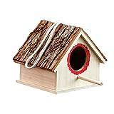 DAGCOT Bird Cage Jaula de pájaros de Madera Natural Al Aire Libre Pájaro Ornamental Longitud del Nido 17.5 cm * Ancho 16 cm * Altura 15 cm Mejor