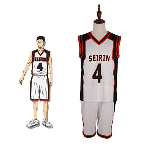 GGOODD Anime Kuroko's Basketball Basketball Basketball Ball Uniformen Cosplay Kostüm Halloween Party Hyuga Junpei No. 4 Basketball-Trikot Unisex Sportbekleidung Uniform, M