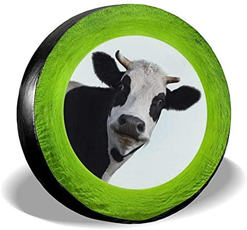 Cubierta de neumático de repuesto de vaca verde,poliéster,universal,de 17 pulgadas,cubierta de neumático de rueda de repuesto para remolques,vehículos recreativos,SUV,ruedas de camiones,camiones,cara