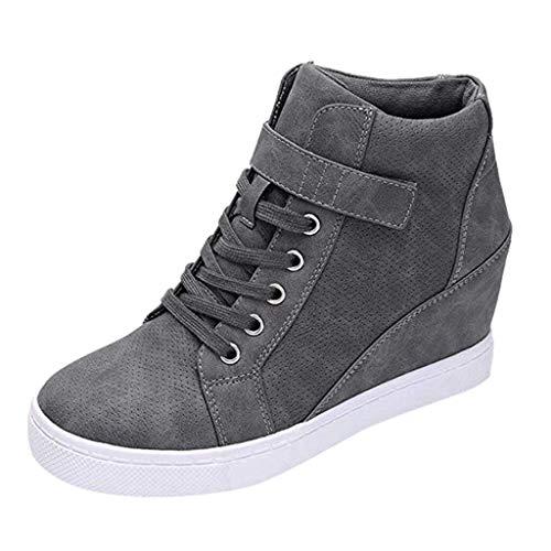 Zapatos Mujer Zapatillas Deportivas Cuña Cómodos Mocasines Plataforma Sneaker Calzado Deportivo de Exterio para Running Fitness Sneakers Fannyfuny