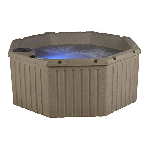 Essential Hot Tubs 11-Jet 2020 Integrity Hot Tub, Seats 4-5, Cobblestone