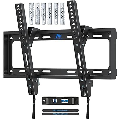 Mounting Dream Soporte de Pared de TV Inclinable Soporte de Televisión para la Mayoría de los 26-55 Pulgadas LED, LCD, OLED y Plasma TVs con VESA 75x75-400x400mm hasta 40kg, MD2868-M-03