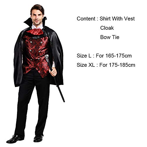SR T.c-CLOTHING Disfraces de Halloween for Hombres, Vampiro ...