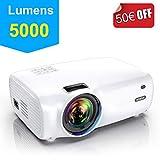 Vidéoprojecteur, WiMiUS 5000 Lumens Vidéo Projecteur Portable Full HD Soutien 1080P Rétroprojecteur 720P Native Mini Projecteur LED 60000 Heures HDMI/VGA/AV/TF/USB pour Home Cinéma ou Plein air