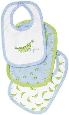 Elegant Baby Cotton Bibs - 3 pk